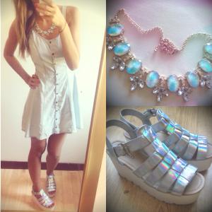 Dress, H&M Necklace, H&M Shoes, eBay Retailer