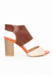 colour block heels