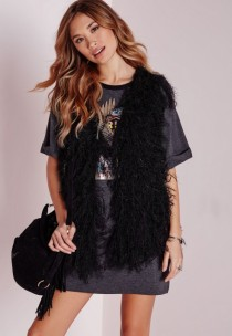 gilet and tshirt - missguided