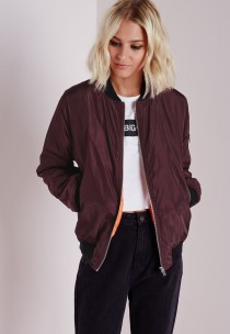 oxblood bomber - missguided