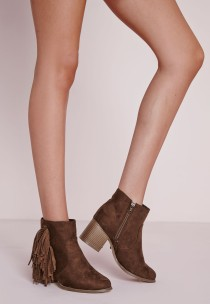 tan tassle boots - missguided